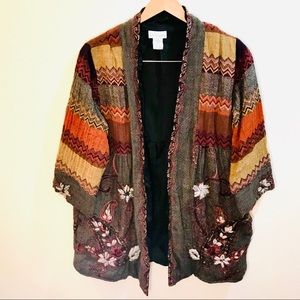 [Soft Surroundings] Colorful Embroidered Jacket